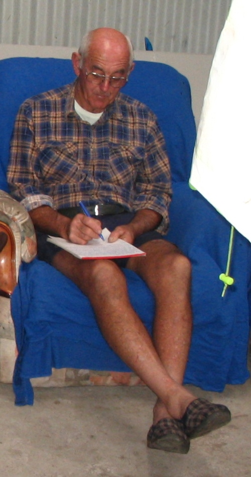 Long Bob writing one of his many letters (2)