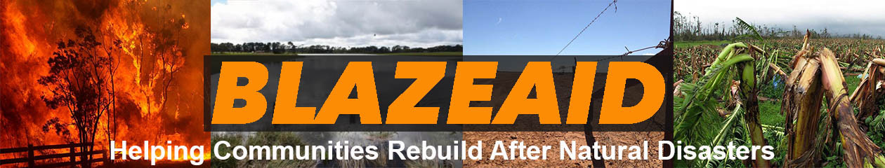 BlazeAid volunteers rebuild fences after fires, floods and cyclones.